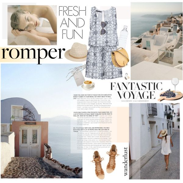 """Take me to Santorini"" by bellamarie on Polyvore #summerstyle #romper #casuallook #casualstyle"