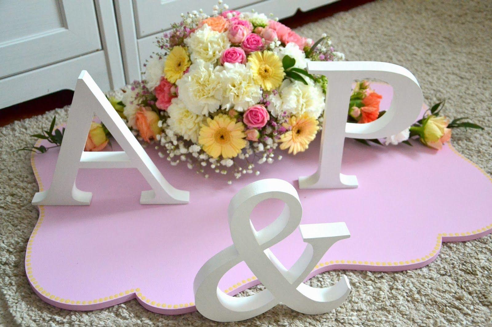Bajeczny ślub świdnica Drewniane Litery ślubne Inicjały Na Wesele