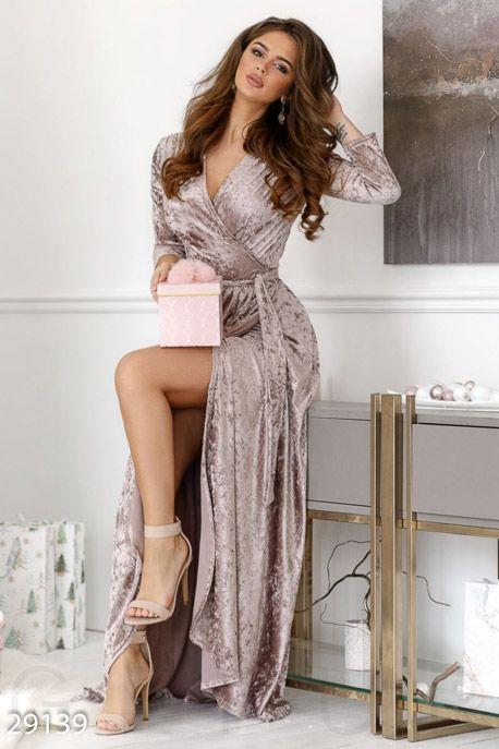 Бархатное платье-халат GEPUR