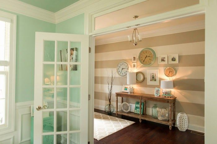 Kleur schilderij entree corridor maison design obas