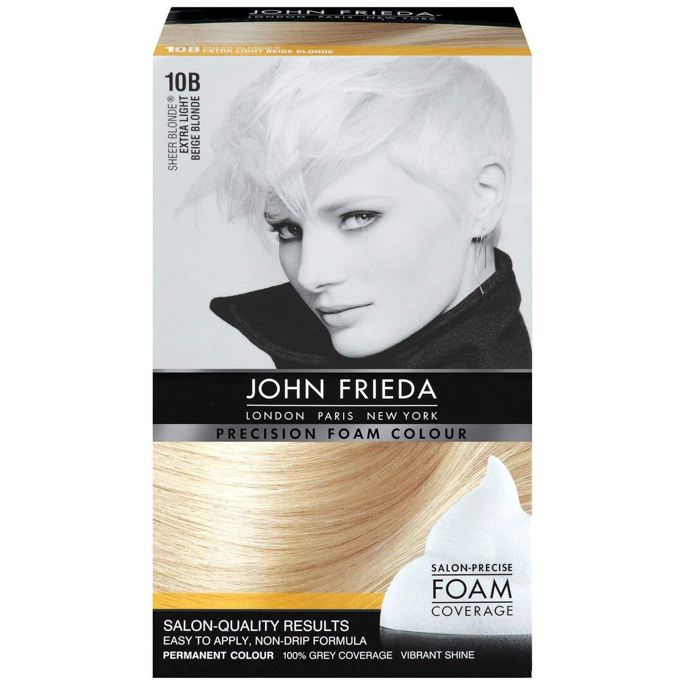 John Frieda Precision Foam Colour Extra Light Beige Blonde 10b