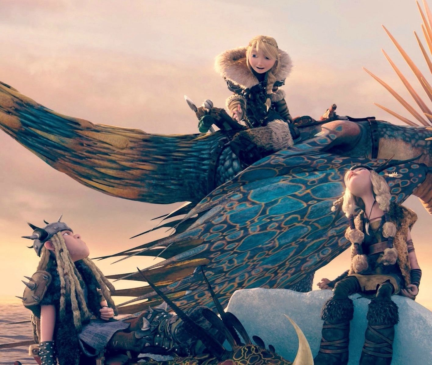 Astrid, Stormfly, And The Twins HTTYD 2