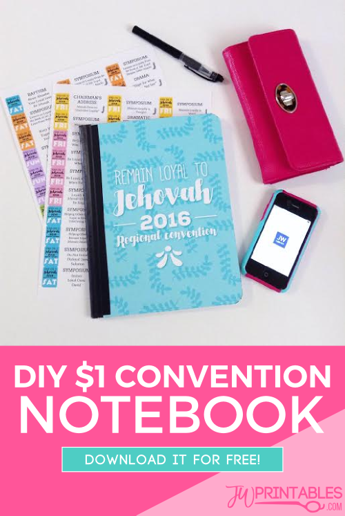 DIY 2016 Regional Convention Notebook   Free Jehovah's Witness