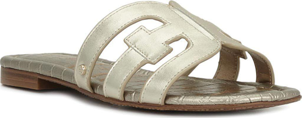 7aa2818a0 Women s Sam Edelman Bay Slide Sandal - Jute Polished Metallic Leather  Sandals