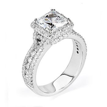I love this Michael M engagement ring from Boise Idaho Weddings