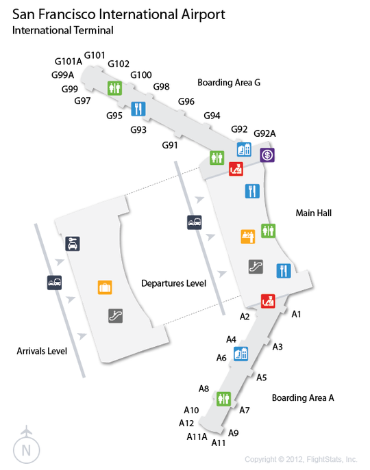 Sfo San Francisco International Airport Terminal Map Airports