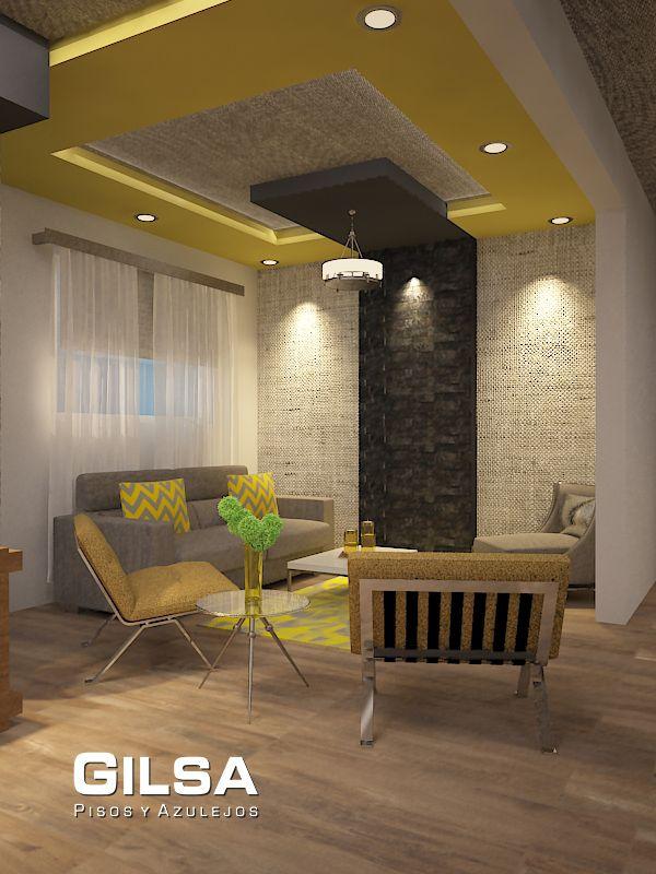 Sala de estilo contempor neo materiales utiizados en for Sala estilo contemporaneo