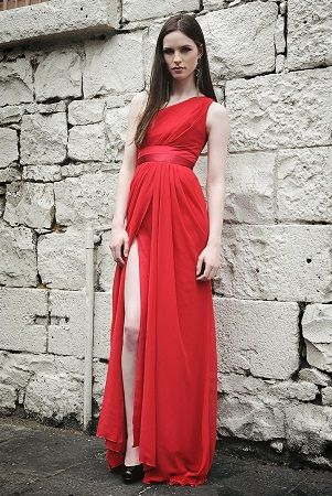 red ball gown with split | Ball Dresses Perth, Ball Gowns, Prom ...
