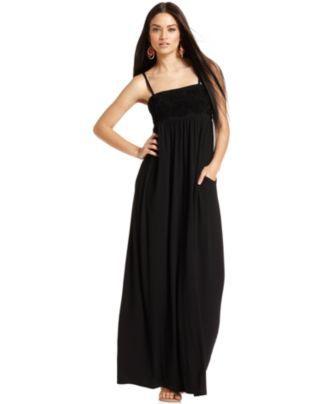 Inc International Concepts Dress Strapless Empire Waist Maxi