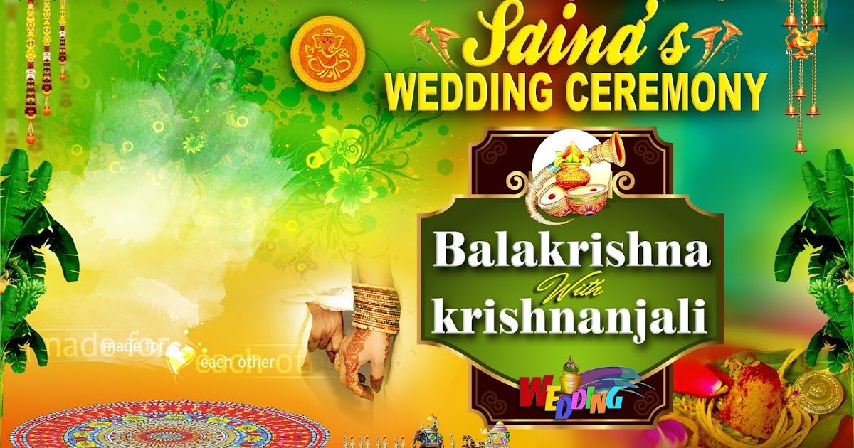 Psd Templates Telangana Govt Designs Psd Files Vector Images Telugu Quotes On Love Hd Images P Wedding Banner Design Flex Banner Design Banner Template Design