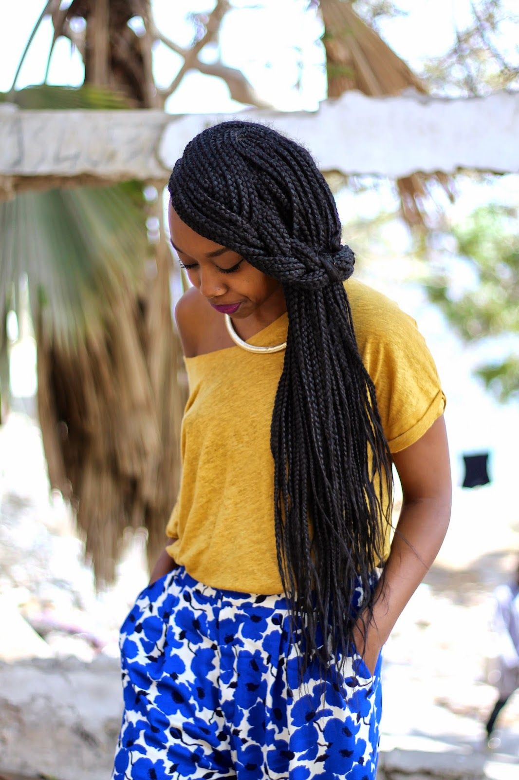 Coiffure Africaine Bouclée Blackbeautybag Blue And Yellow In Dakar Hairstyles