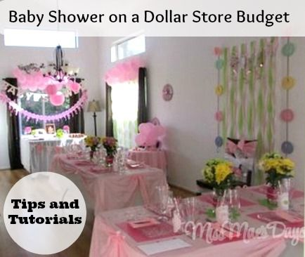 Baby Shower On A Budget By Shopping At The Dollar Store Dollar
