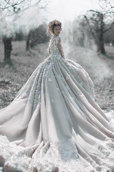 The Avener Castle In The Snow : avener, castle, Avener, Kadebostany, Castle, Winter, Wedding, Dress,, Gowns, Wedding,, Bride
