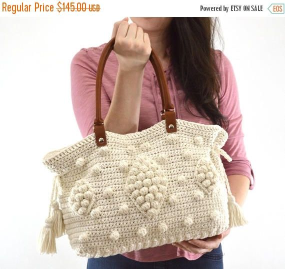 b1b313261e ***INSPIRED BY GERARD DAREL 24 HR DUBLIN HANDBAG*** >>Featured in ECRU  color >>100% Hand crocheted handbag >>Exterior: 100% Cotton >>Interior:  lined with ...
