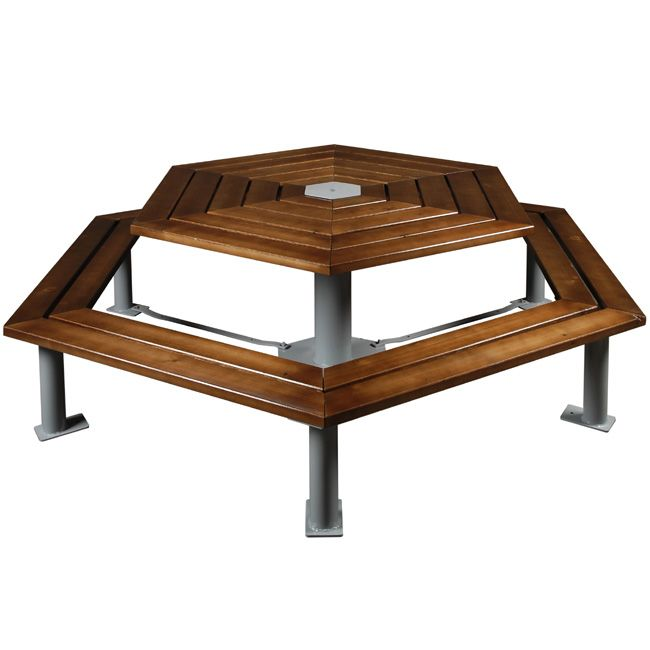 Table pique nique Hexagonale Table extérieure capacité 12 personnes ...