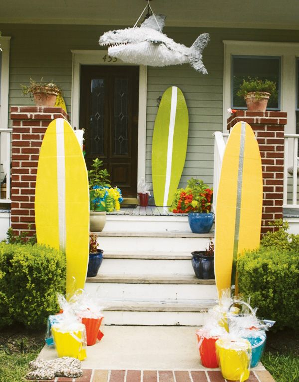 Surf Shack Beach Birthday Party With Images Beach Birthday Party