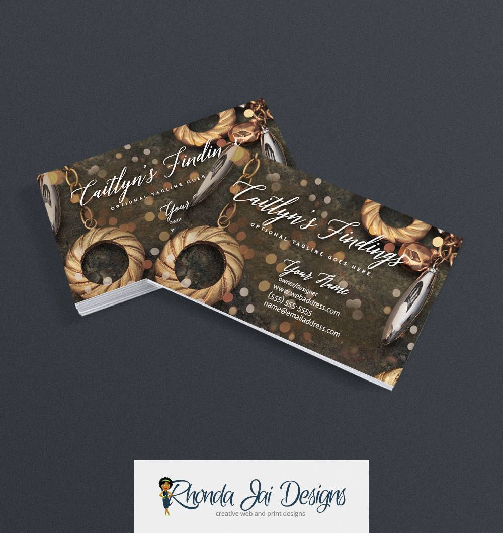 Business Cards Jewelry Business Card Design Business