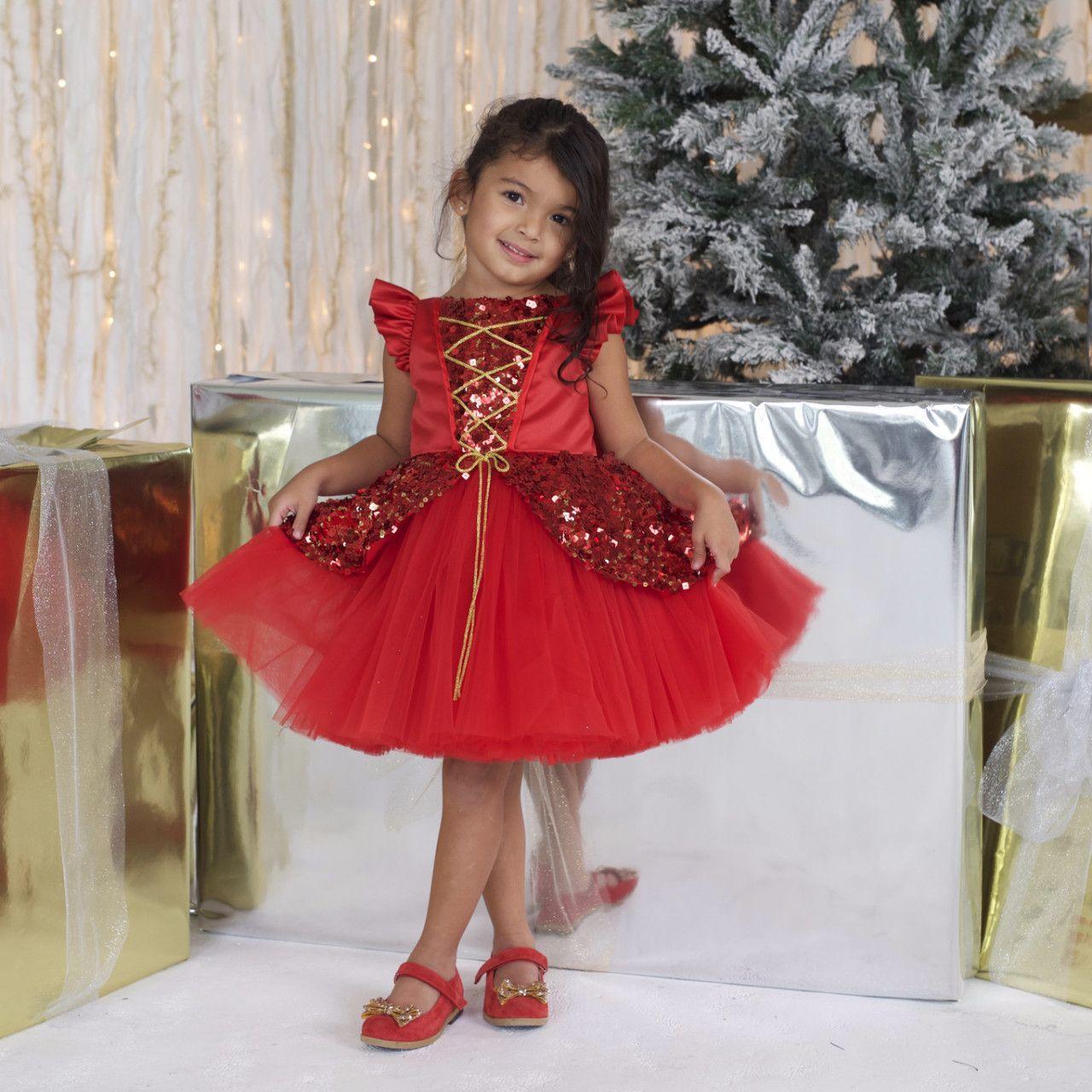 Ruby Red Flower Girl Dresses