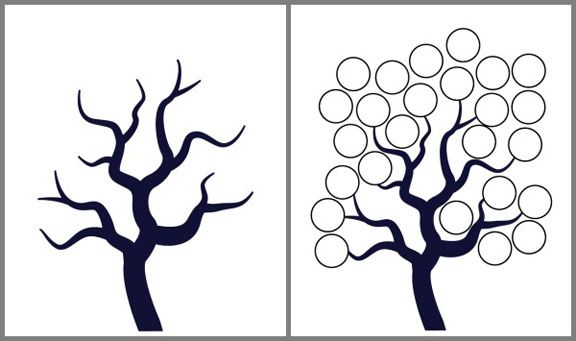 free tree templates printable with a bare tree children can fill in