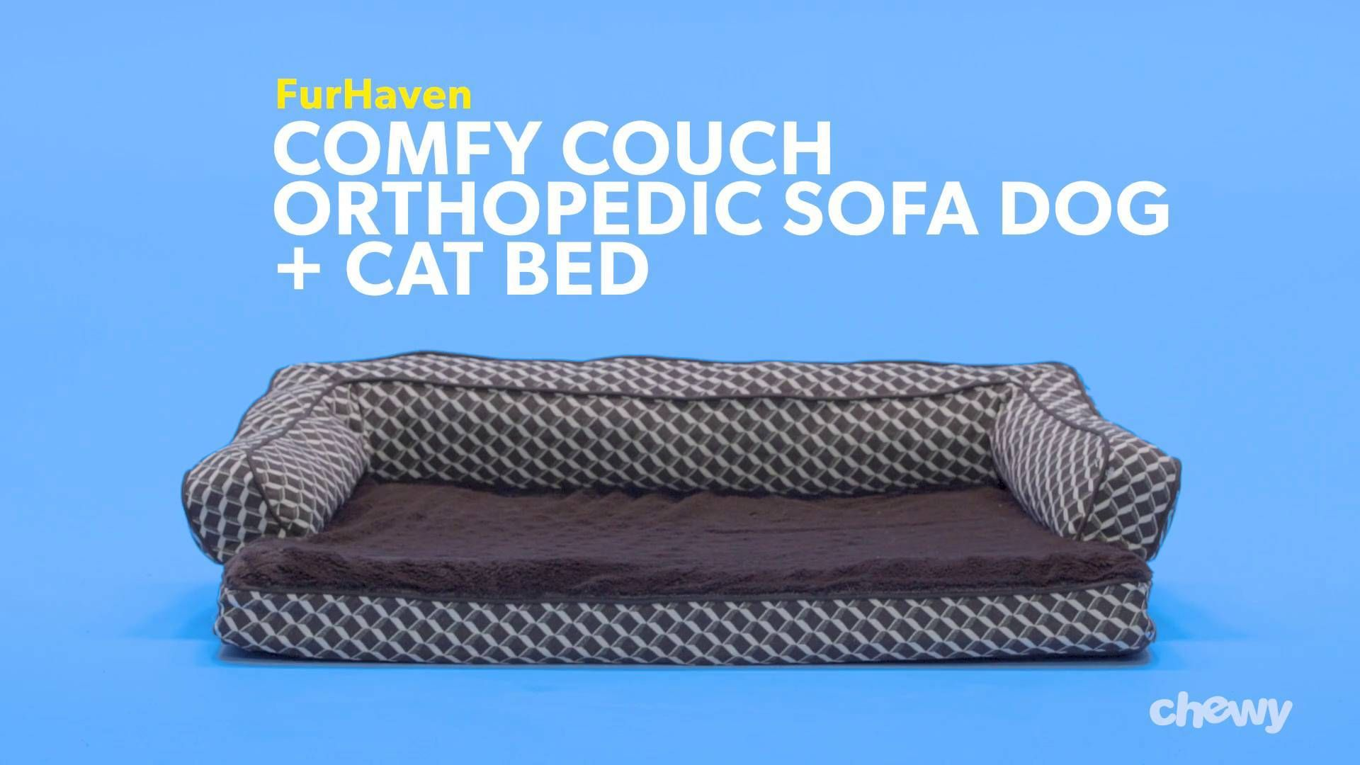 FurHaven Comfy Couch Orthopedic Sofa Dog & Cat Bed