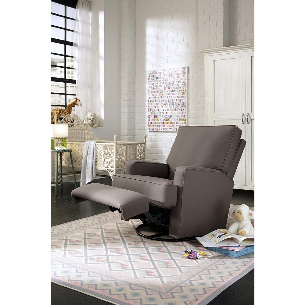 Best Chairs Kersey Upholstered Swivel Glider Recliner Shadow Babies R Us
