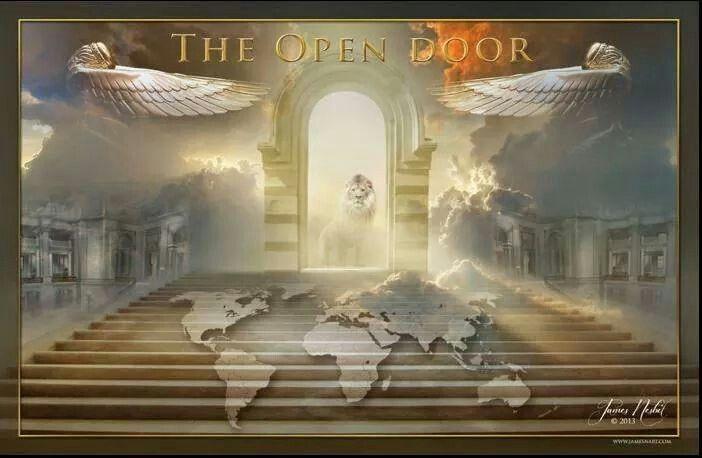 The open door Prophetic art, Prophetic painting, Lion of