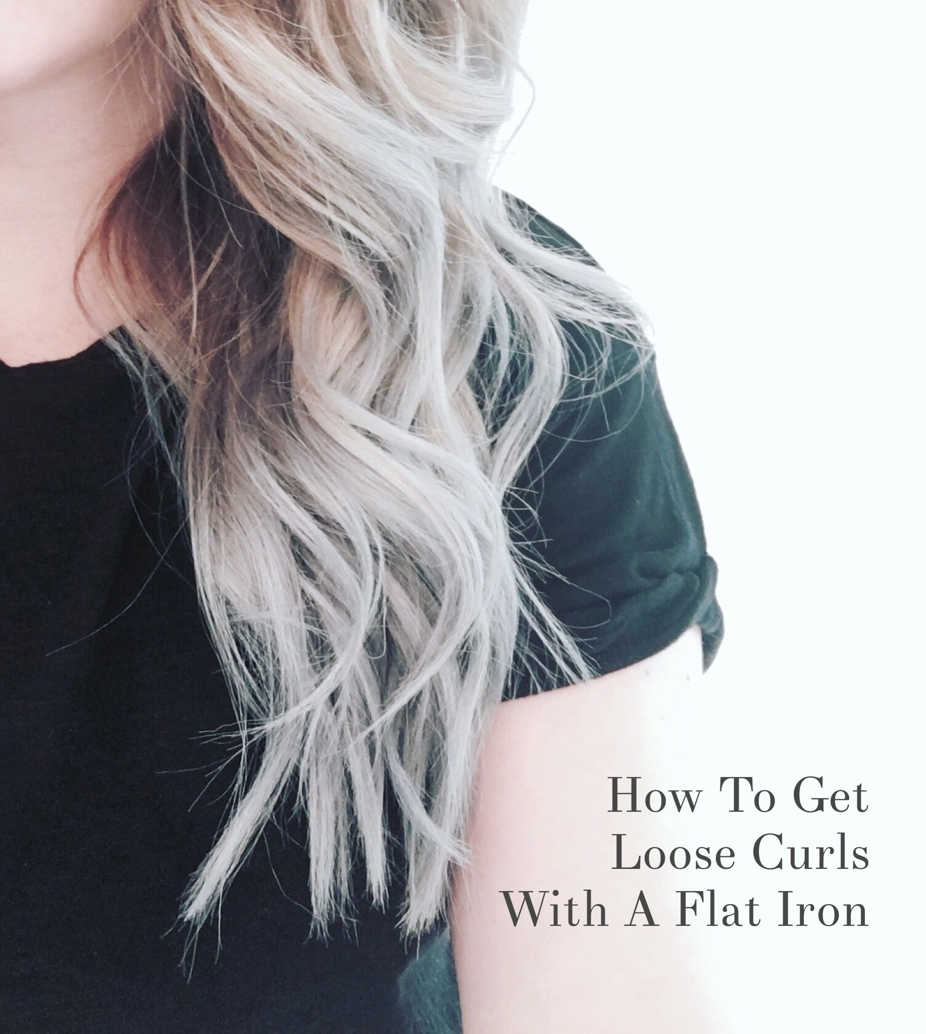Using a flat iron to curl my hair is my favorite, and fastest, way to curl my hair. I'll show you how I get fast, big, beautiful curls using a flat iron!