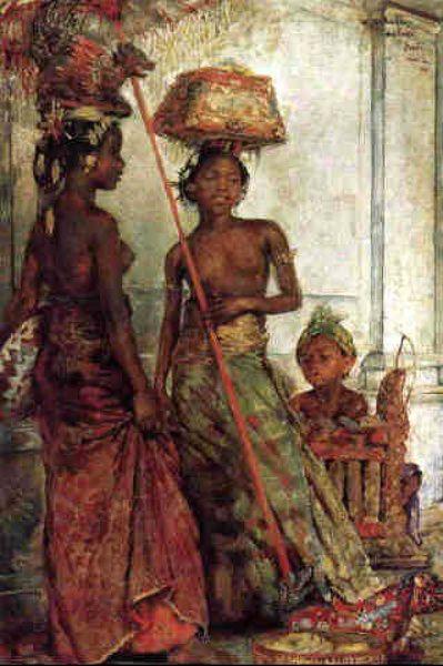 Willem Gerard Hofker - Dua gadis Bali dan Anak