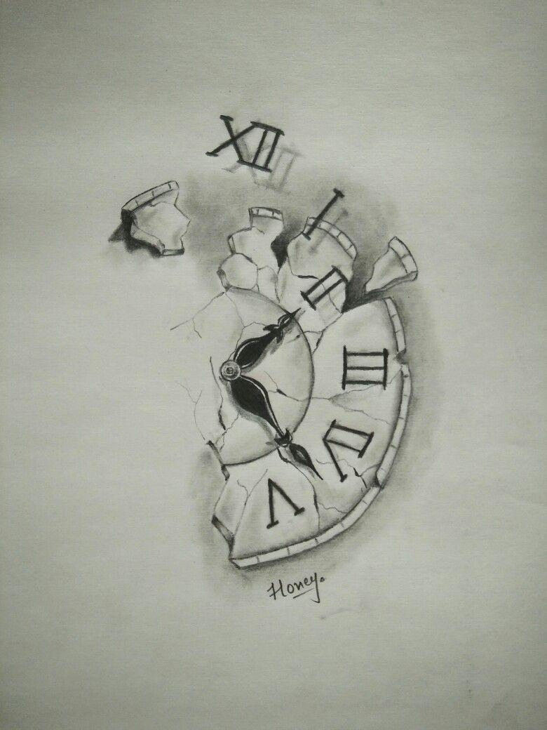 Broken Clock Clock Tattoo Clock Tattoo Design Broken Clock Tattoo