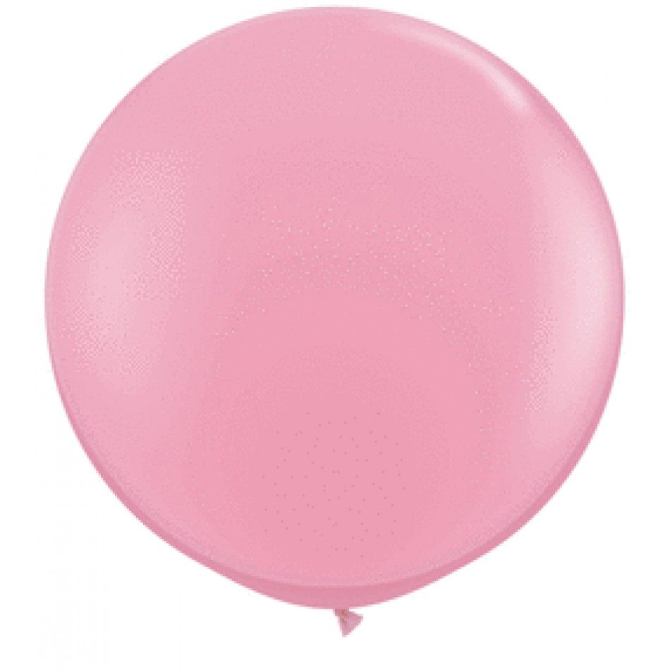 Giant Wedding Balloons - 3\' Foot Round Latex Balloon - Pink (Pair of ...
