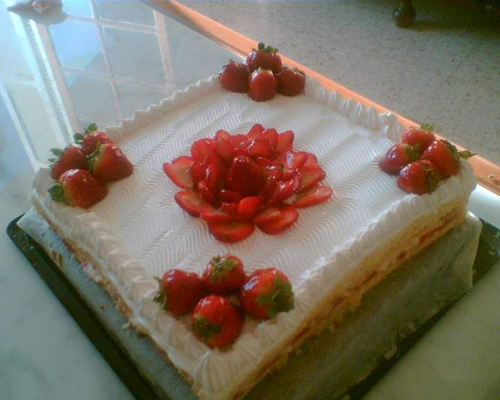 decoration gateau fraise