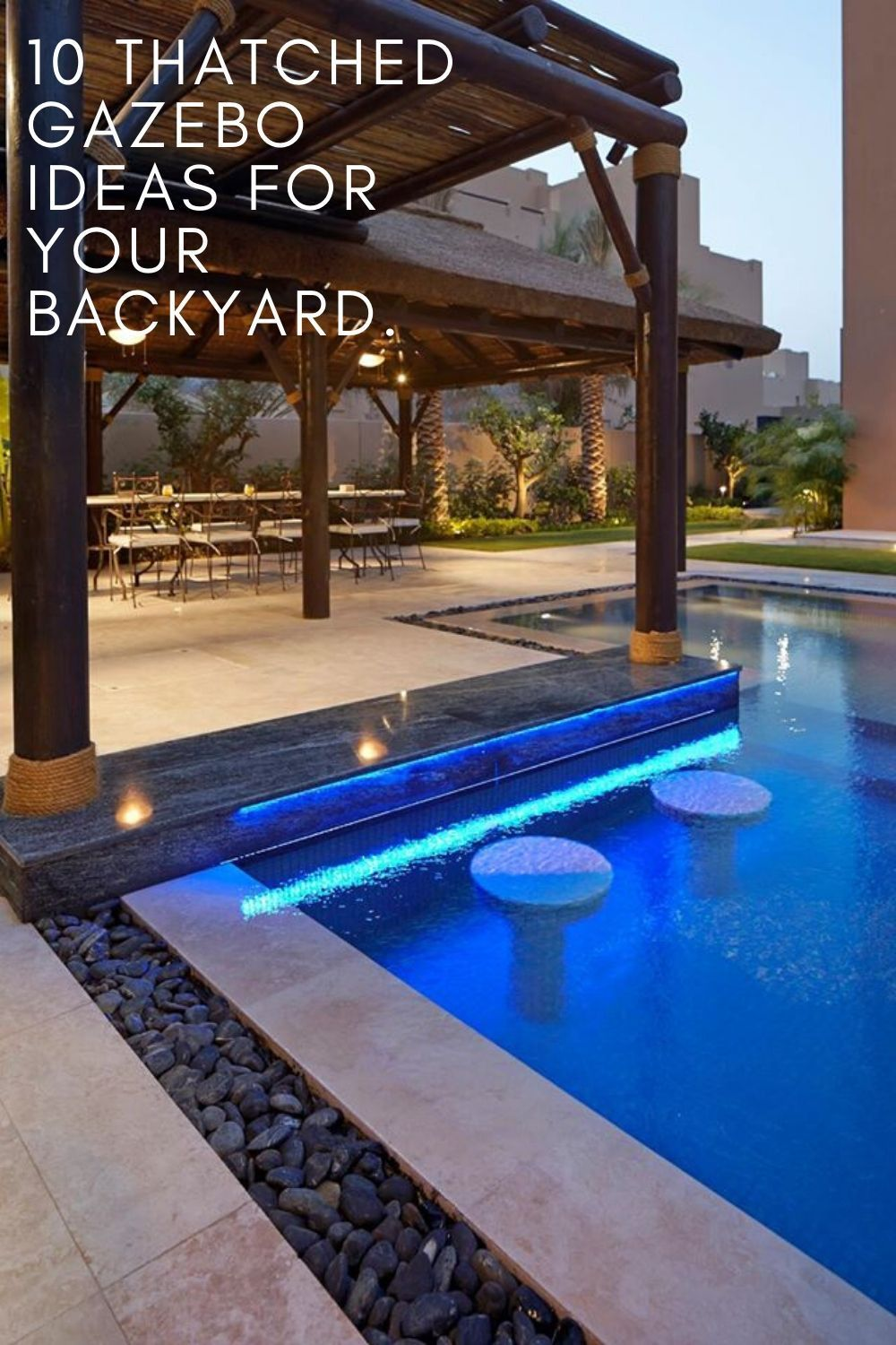10 Thatched Gazebo Ideas For Your Backyard Cape Reed International Pool Bar Swimming Pool Designs Pool Designs