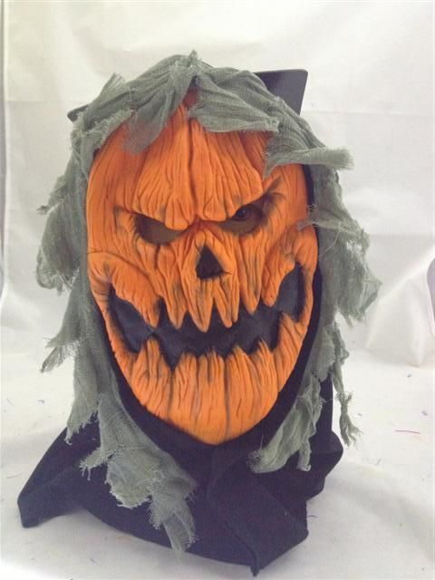 HALLOWEEN SCARY PUMPKIN LATEX MASK COSTUME ACCESSORY PARTY FUN