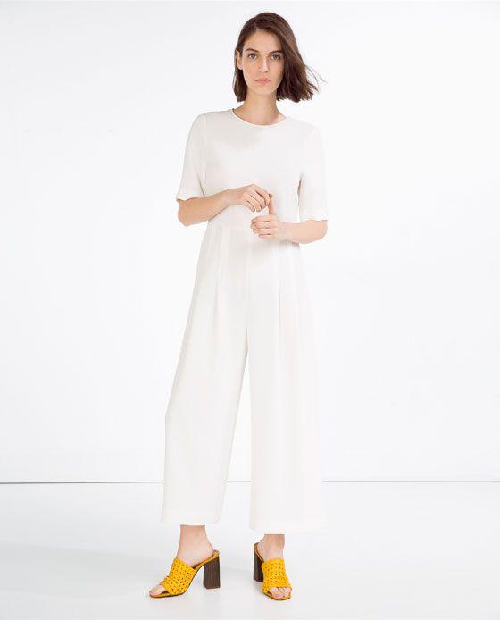 1d3f6d48 Image 1 of JUMPSUIT WITH WAIST SEAM from Zara | high fashion | Zara ...