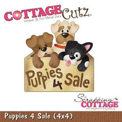 cottage cutz 4x4 dies puppies 4 sale cottage cuts dies etc rh pinterest com  cottage cutz puppies for sale