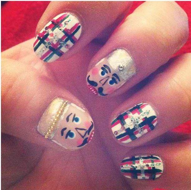Nutcracker Nails Holiday Nail Art Pinterest Ballet Nails
