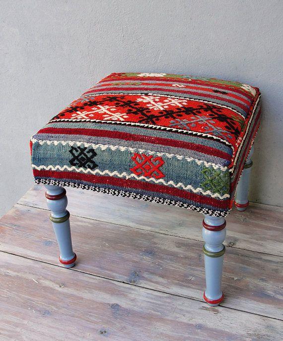 Kilim Ottoman Pouf