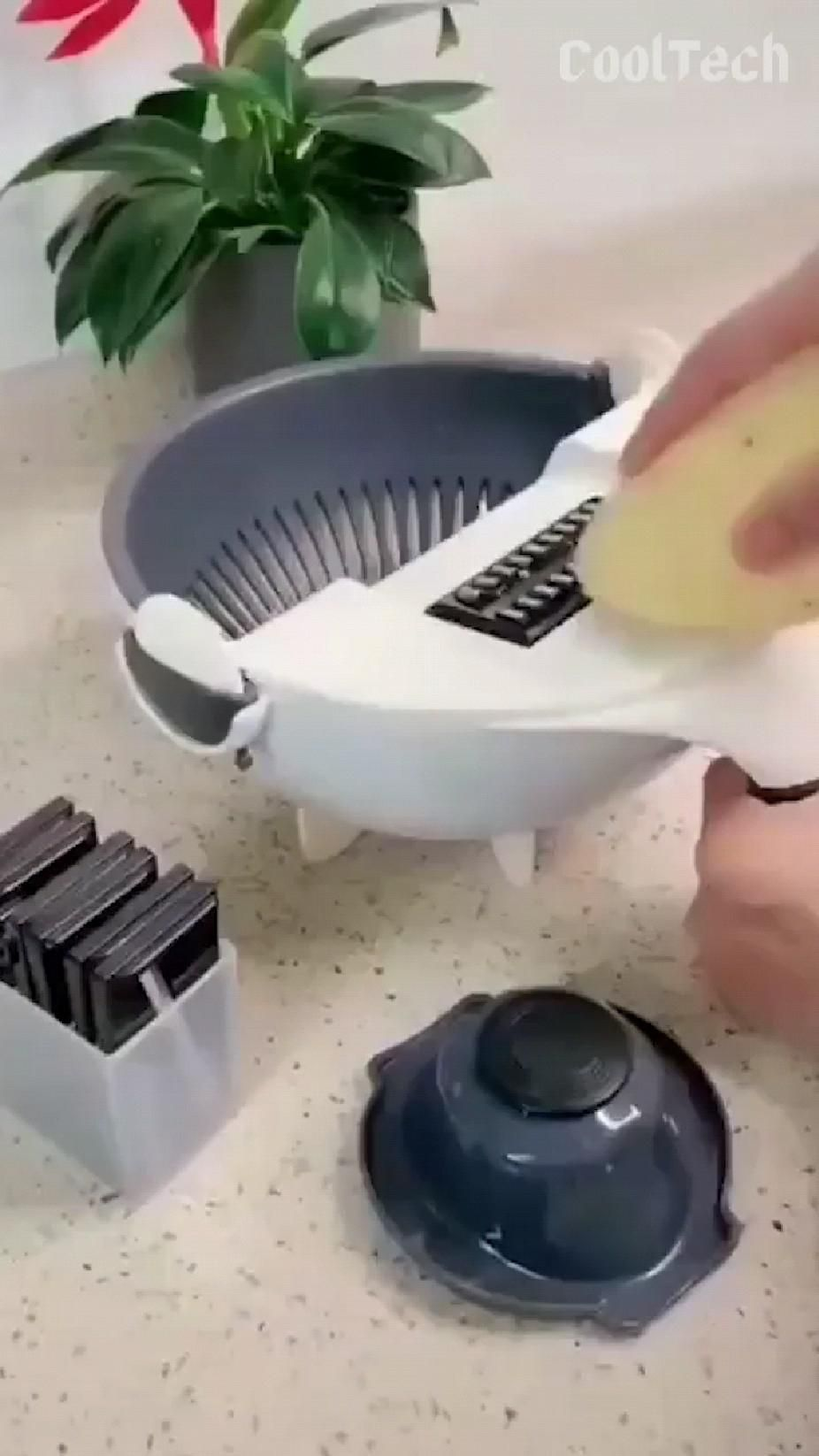 7 in1 vegetable cutter with basket