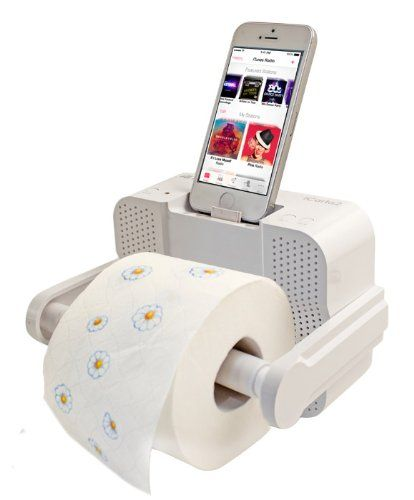 ICarta Toilet Roll Holder Docking Station! Entertain Yourself While You  Poop! Http:/ Images