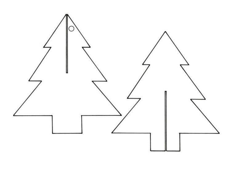 Vorlage Für Weihnachtsbaum Aus Karton Zum Ineinander Stecken Hit
