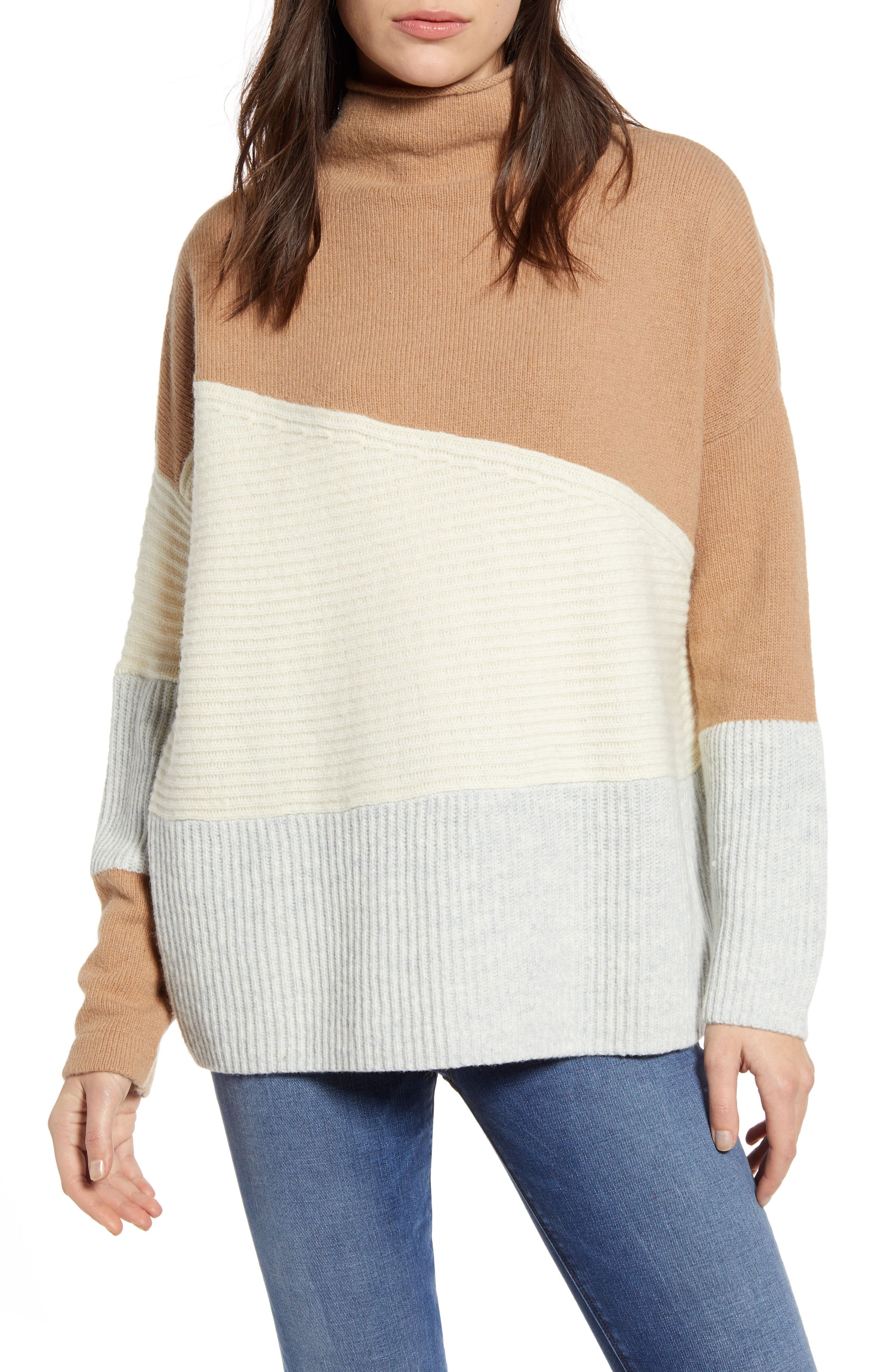 Women's French Connection Patchwork Funnel Neck Sweater