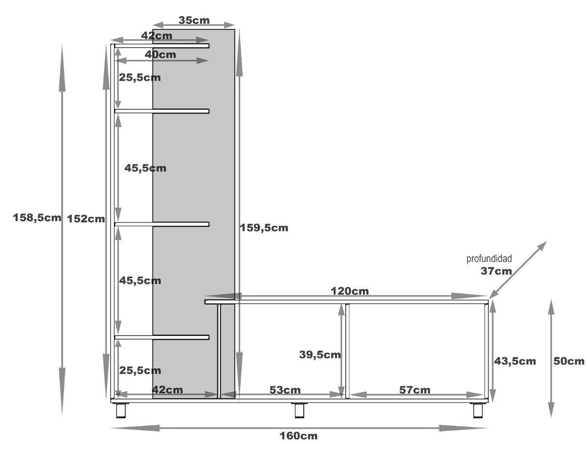 Resultado De Imagen Para Muebles Para Tv Mdf Planos Proyectos A  # Muebles Wonderfull