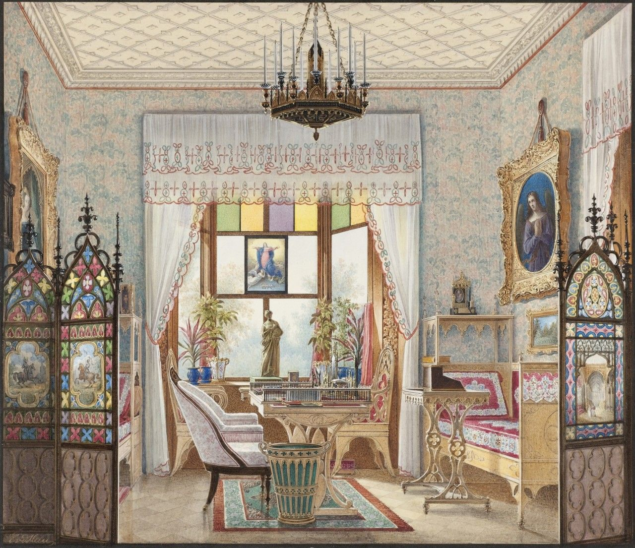 Domestic Interior Paintings Show How The 1 Lived In The 19th Century Saint Petersburg Russia