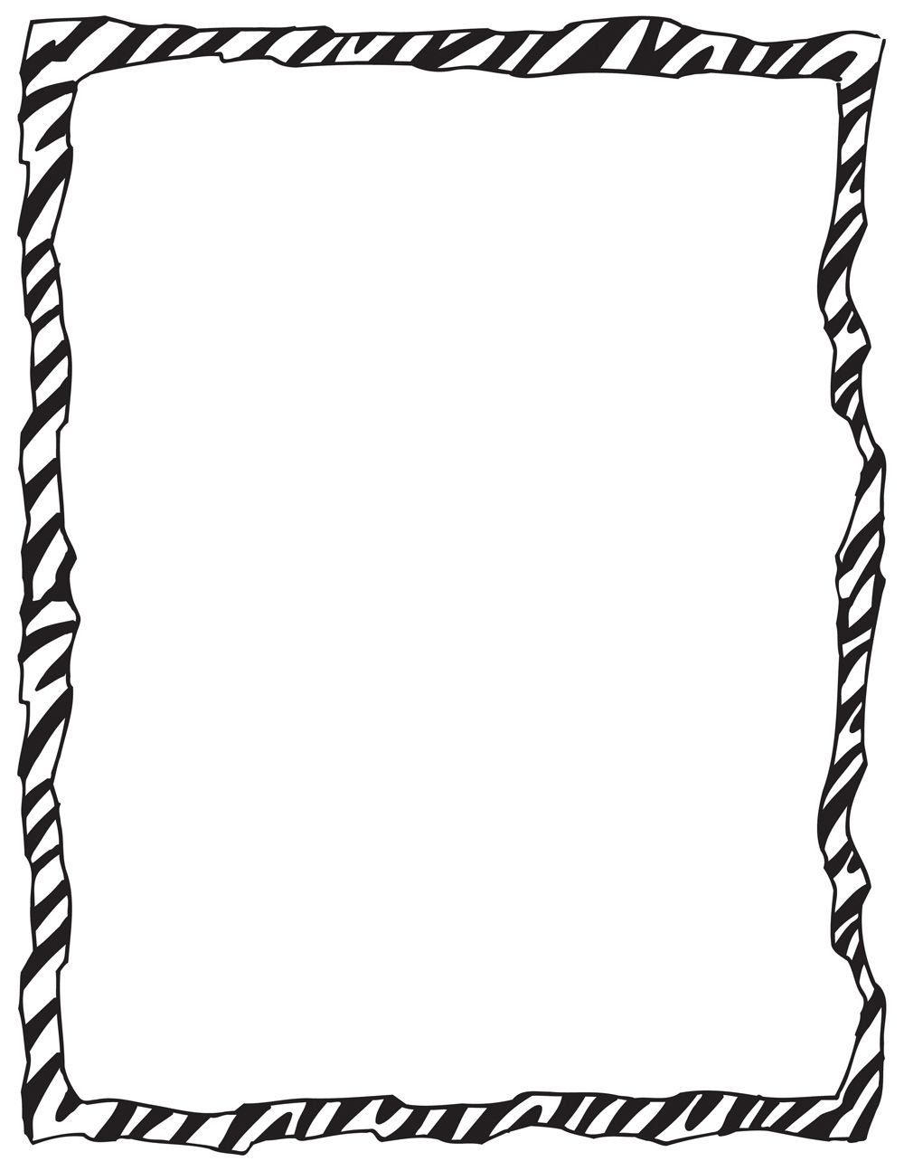 Displaying 15 Images For Animal Print Border Clip Art Borders Zebra Free Clip Art