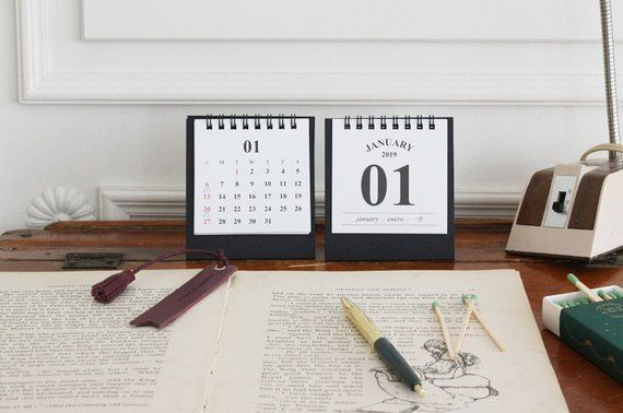 Calendar Calendars, Planners & Cards Gentle 2019 New Year Calendar 2019 Fashion Simple Lovely Mini Table Calendars Vintage Kraft Paper Desk Calendar Office School Supply