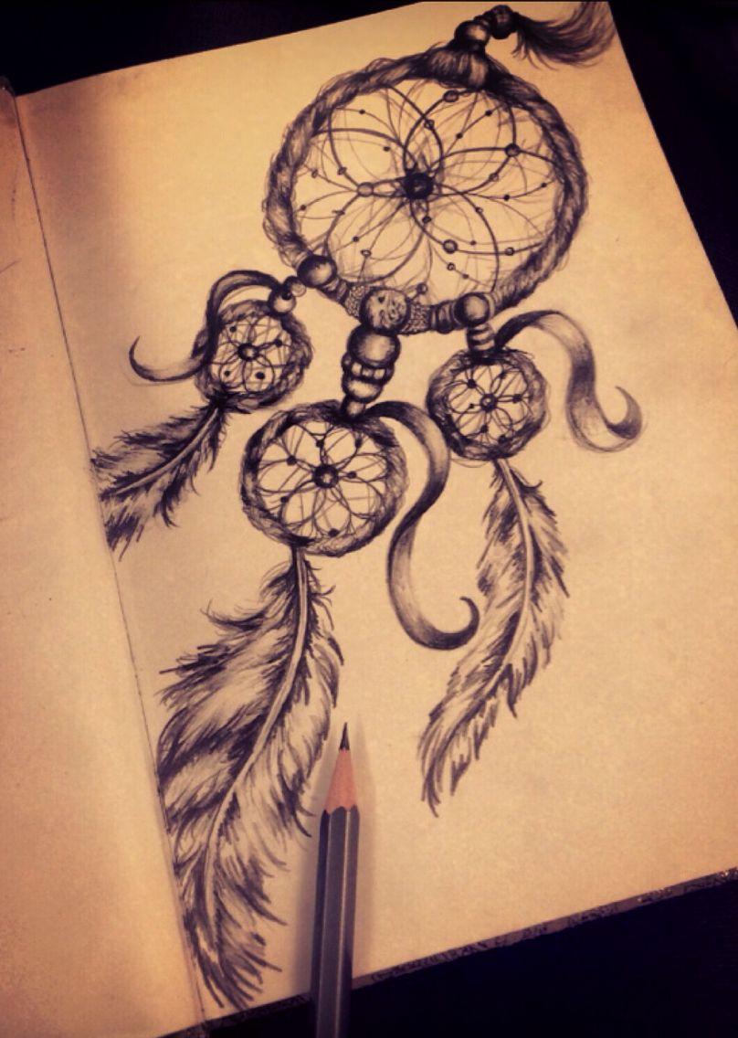 dreamcatcher pencil sketch malen traumf nger tattoos. Black Bedroom Furniture Sets. Home Design Ideas