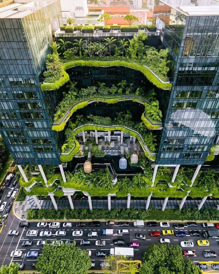 Eco Building in Singapore 🇸🇬 the first to produce its own