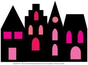 Fensterbild: Häuser mit Transparentpapier 3 – Medienwerkstatt-Wissen © 2006-2021 Medienwerkstatt
