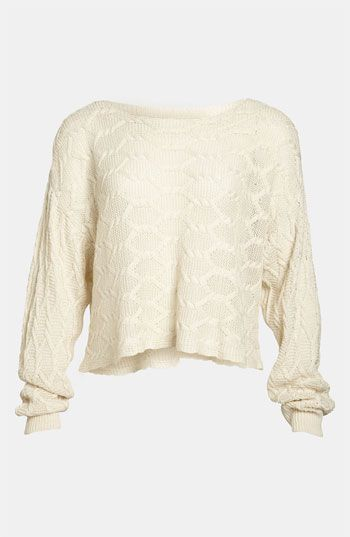 Tildon Off Shoulder Cabled Pullover Sweater available at # ...