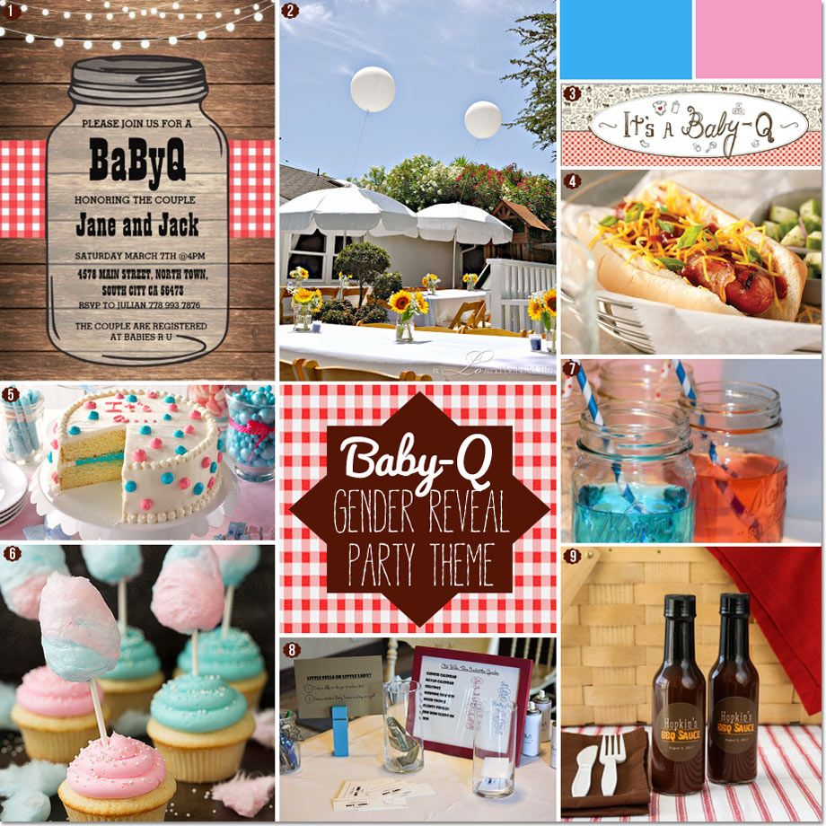 How To Plan A Gender Reveal Baby-Q BBQ Baby Shower!